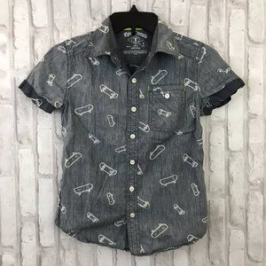 🌵Epic Threads Skateboard Print Button Down …